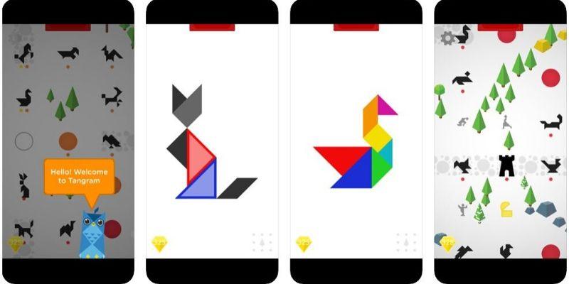 Osmo tangram application manipulation et logique
