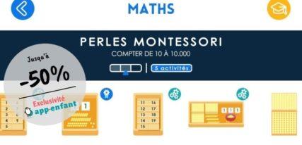 Perles dorées Montessori Maternelle Montessori pour apprendre à compter