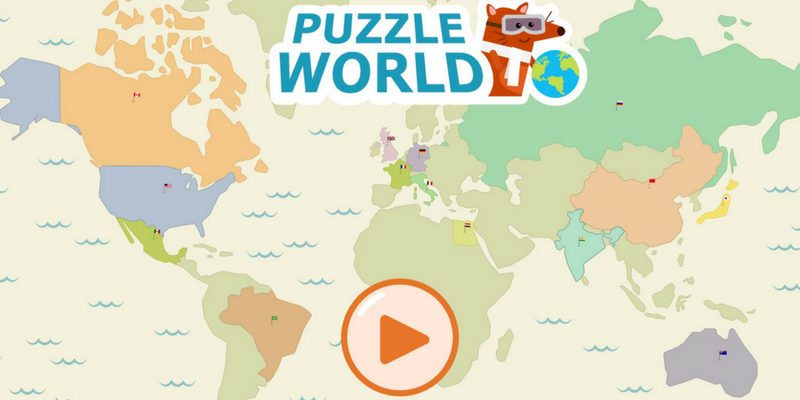 Puzzle world geographie
