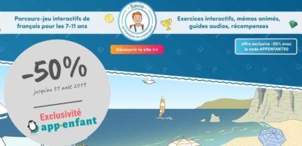Savio promo français app-enfant 4