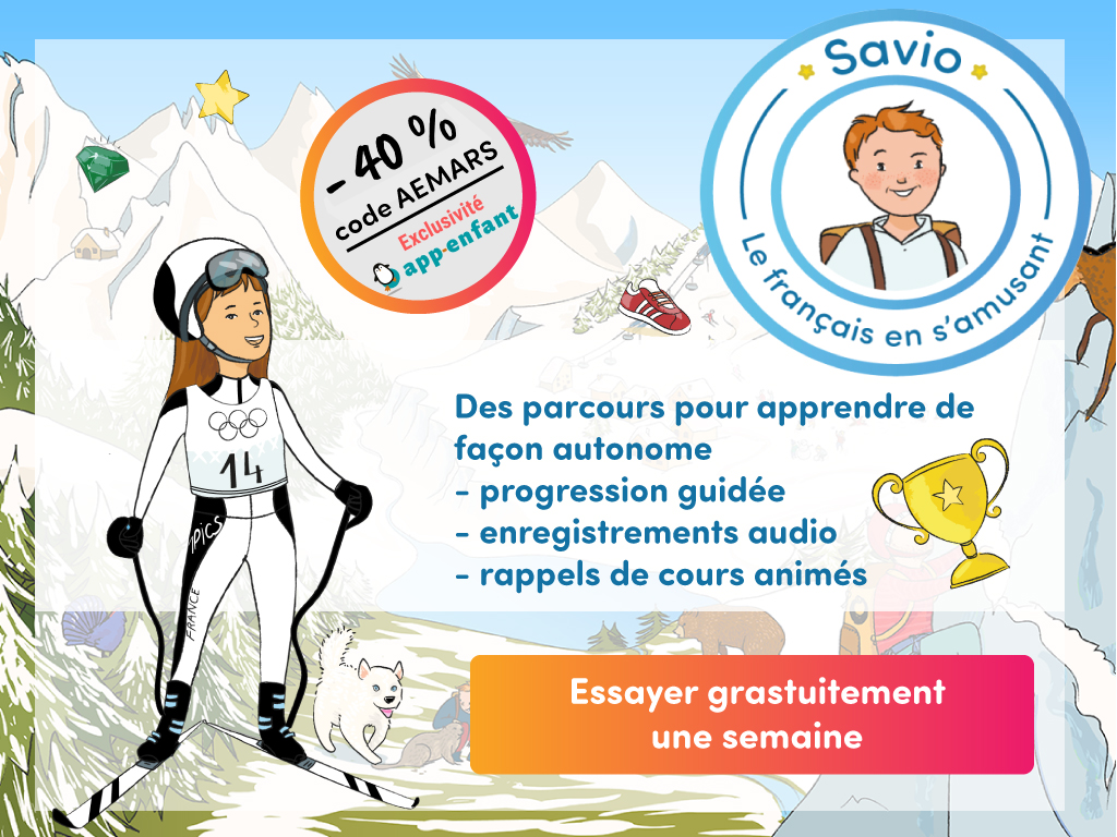 Savio grammaire pop-up mars