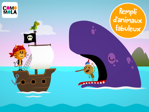 application pirate Comomola Pirates baleine