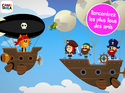 application pirate Comomola Pirates bateau