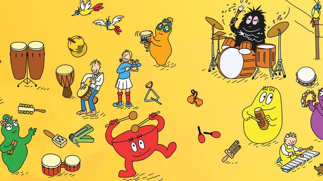 Barbapapa et les instruments de musique