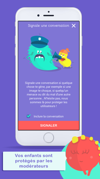 Monster Messenger sécurité