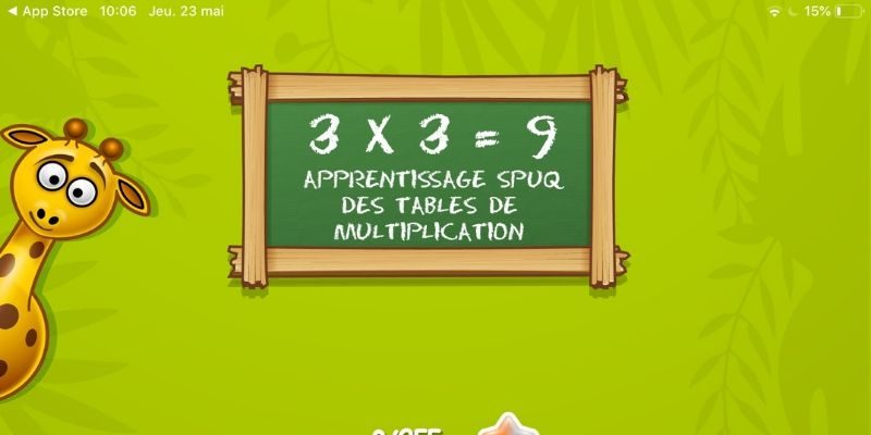 Spuq apprentissage des multiplications app-enfant