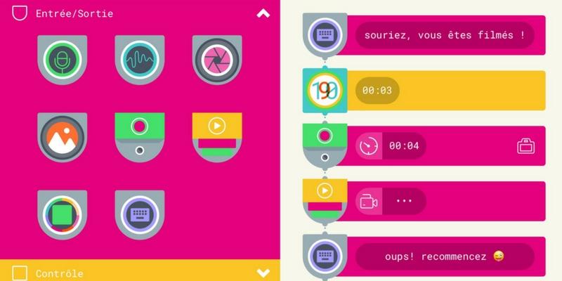 Tinkerblocks code app enfant