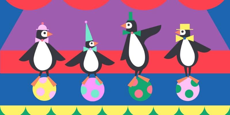 Tongo cirque application d'éveil à la musique danse pingouins