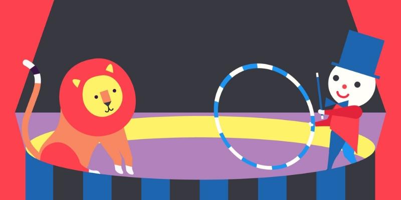Tongo cirque lion application d'éveil à la musique enfant