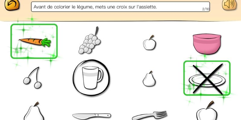 Top consigne app orthophonie aliments