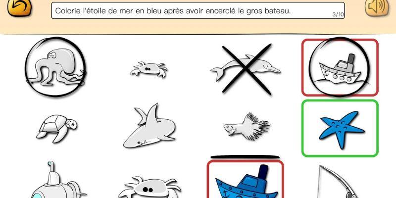 Top consigne application enfant orthophonie bateaux
