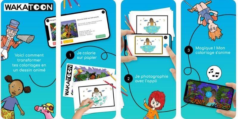 Wakatoon app coloriage enfant