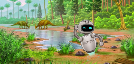 Witty the robot dinosaure application