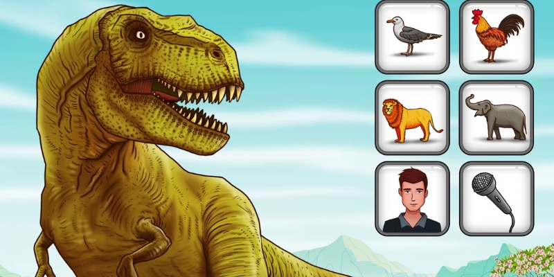 Witty the robot dinosaure cri